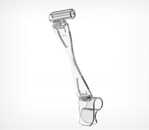 Ценникодержатель с ножкой высотой 90 мм для крепления на край посуды