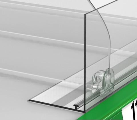 Пластиковый передний ограничитель высотой 80 мм с Т-профилем