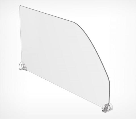 Пластиковый разделитель высотой 200 мм с фиксированной длиной