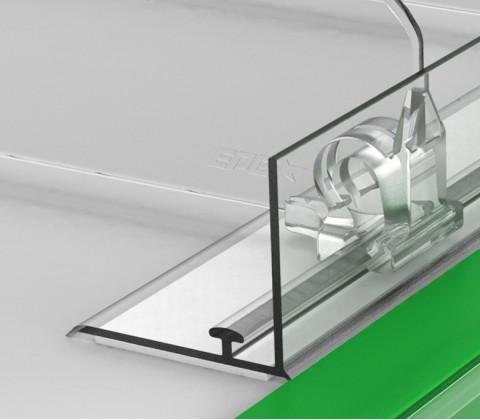 Пластиковый передний ограничитель высотой 30 мм с Т-профилем