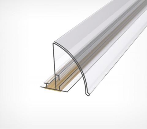 Закругленный полочный профиль с высотой вставки 30 мм