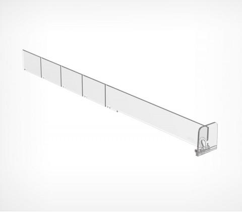 Пластиковый обламывающийся разделитель высотой 30 мм с передним ограничителем 35 мм