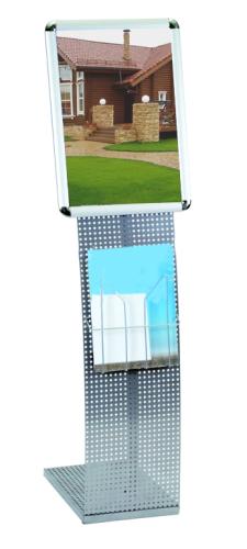 Рекламная напольная информационная стойка Парус, ширина 35см (рамка А3)