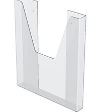 Карман настенный для стенда, объемный А6, оргстекло 1,5мм