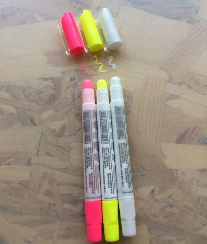 Комплект меловых маркеров 3 цвета