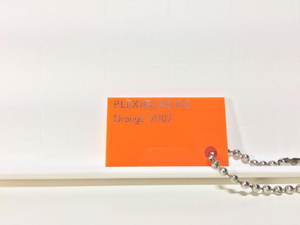 Оранжевое оргстекло Плексиглас 2Н02