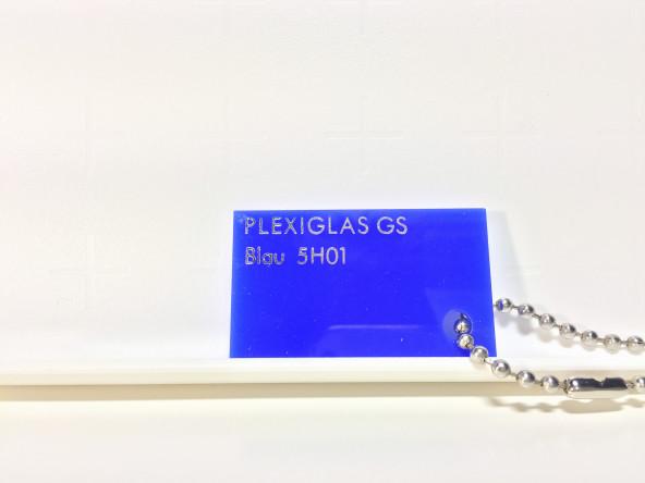 Синее малопрозрачное оргстекло Плексиглас 5Н01