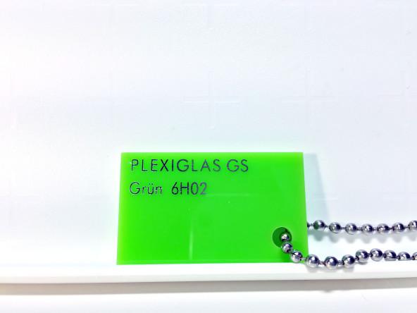 Салатовое оргстекло плексиглас  6HO2