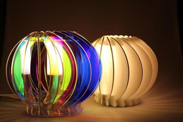 Светильник из фанеры или пластика