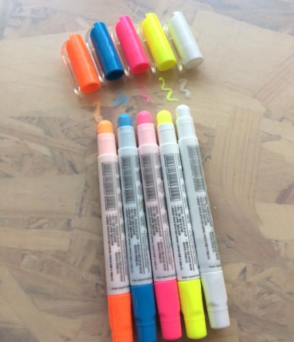 Комплект меловых маркеров 5 цветов