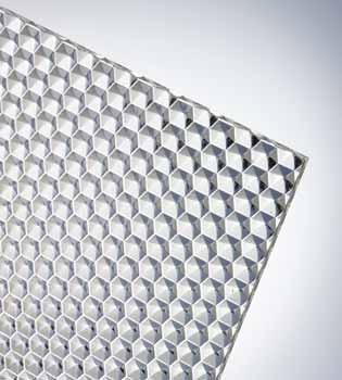 PLEXIGLAS® XT рифлёный Clear 20070 W (Соты, прозрачное)