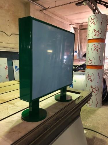 Панель кронштейн световой двухсторонний рекламный.