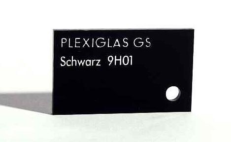 Черное оргстекло PLEXIGLAS® GS Black 9H01 GT