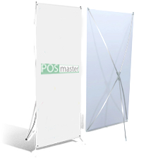 Мобильный Х баннерный стенд 80*180 см.