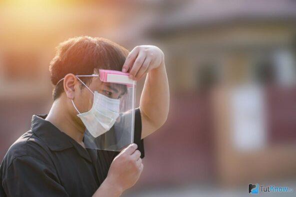 Маска пластиковая защитная лицевая